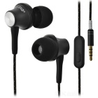 OVLENG iP-320 Universal 3.5mm Plug Wired In-Ear Earphones - Black