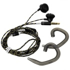 OVLENG iP-310 Universal 3.5mm Plug Wired In-Ear Earphones w/ Mic-Black
