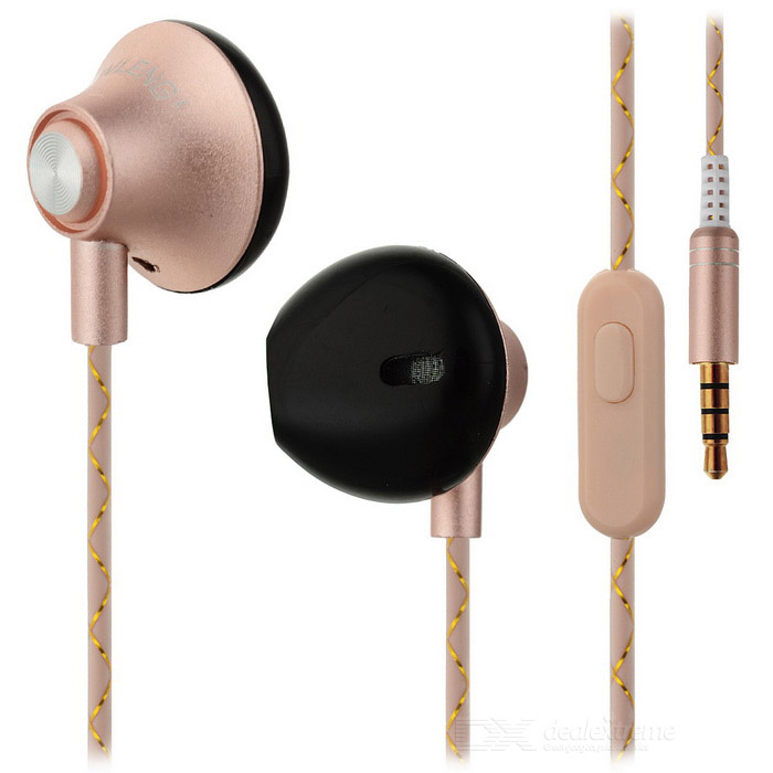 OVLENG iP-310 Universal 3.5mm Plug Wired In-Ear Earphones - Gold