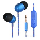 3.5mm Plug Wired In-Ear Stereo Earphones w/ Microphone for Mobile Phone / Computer
