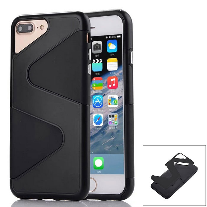 """Z"" Pattern Protective PC + TPU Back Case for IPHONE 7 Plus - Black"