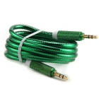 3,5 mm macho a macho cable de conexión de audio AUX - verde (100 cm)