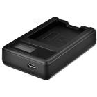 5V 1~2A Smart Battery Charger w/ LCD Screen for Canon LP-E10 - Black