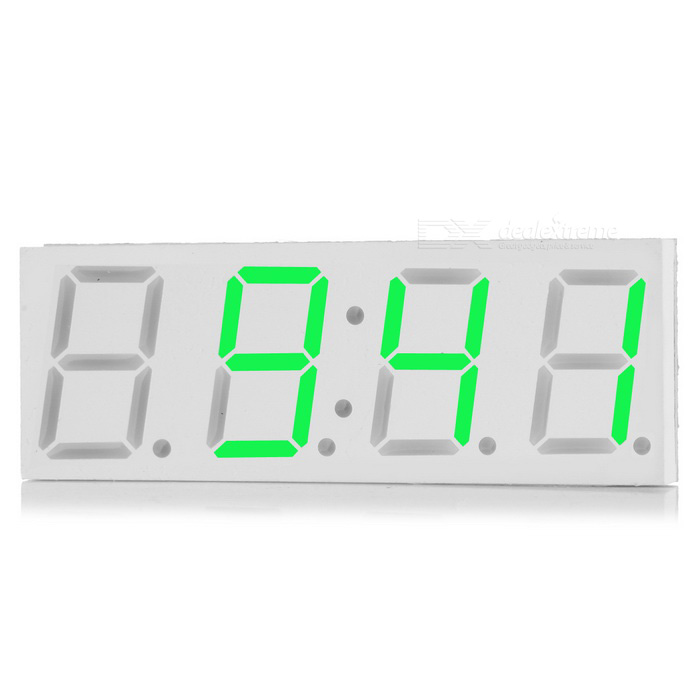 "DS3231 5V USB 3"" Car LED Display Digital Clock - Green Light"