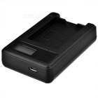 5V 1~2A Smart Battery Charger w/ LCD Screen for Canon LP-E12 - Black