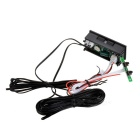 Red LED Car Digital Thermometer Voltmeter Clock Module w/ Two Sensors