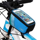"Polyester + PU Bicycle Top Tube Phone Storage Touch Bag for 4.8"" Mobile Phone (1.4L)"