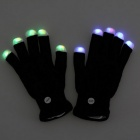 Flash Light Up LED Fingerless Golves for Bar Performance
