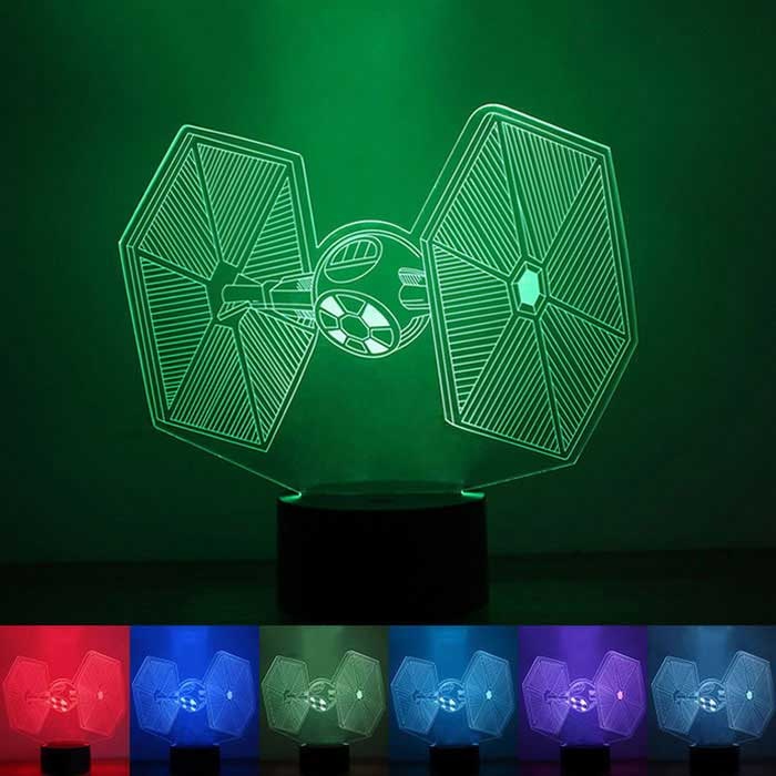 Creative 3D Stereoscopic Touch Color-changing LED Night Light