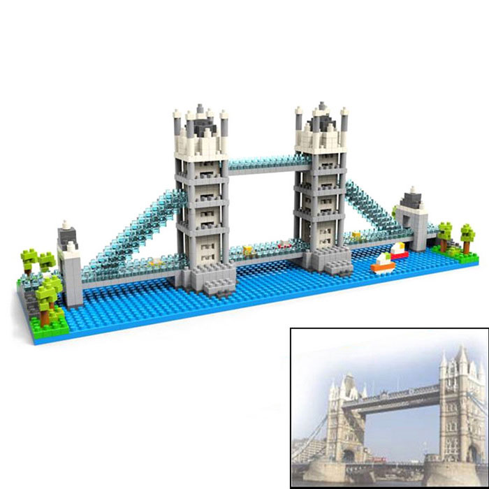 3D Mini DIY Diamond Particles London Bridge Building Blocks Puzzle Toys