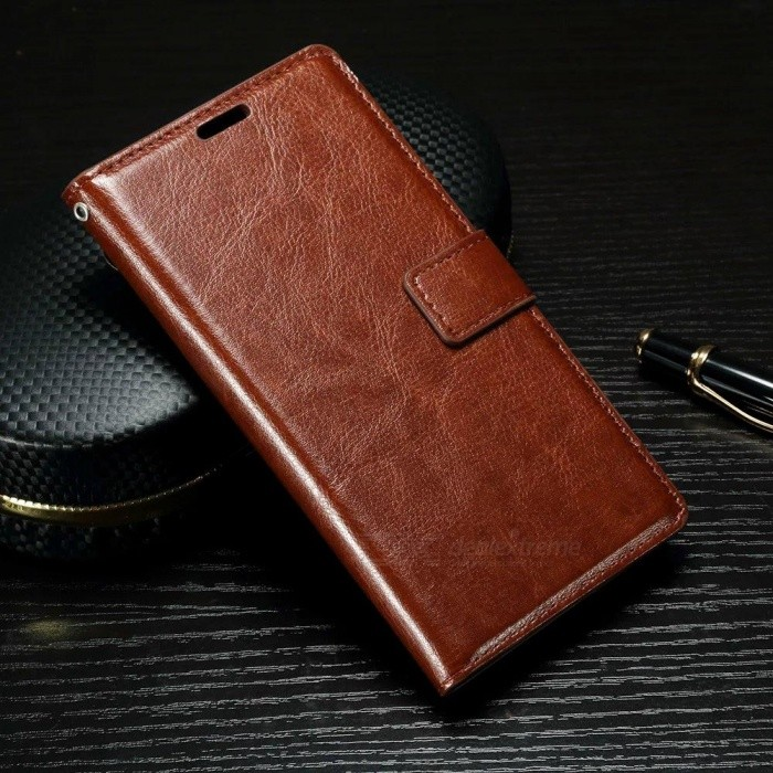 Wallet Case w/ Stand / Card Slots for Sony Xperia XA - Brown