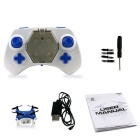 mini quadcopter drone 2.4G 4CH 6 axel RC quadcopter w / gyro - blå