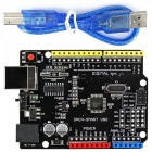 Improved version of Arduino board with USB cable, Driver chip CH340G, 5V / 3.3V Compatible