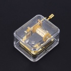 Unique Acrylic Hand Crank Movement Musical Music Box - Gold