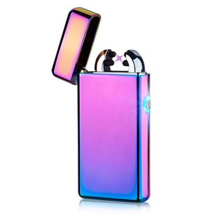 Maikou USB Charging Electronic Double Cross Arc Fire Lighter - PurpleOther Lighters<br>Form  ColorPurpleMaterialStainless steel + electronicsQuantity1 DX.PCM.Model.AttributeModel.UnitShade Of ColorMulti-colorTypeUSBFlame ColorpurpleWindproofYesFuelelectronicPower SupplyLithium Ion BatteryCharging Time1-2 DX.PCM.Model.AttributeModel.UnitPacking List1 * Lighter1 * USB cable 20CM<br>