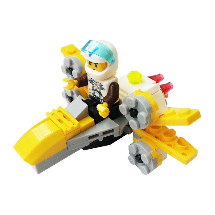 DIY Particles Assembled X-Wing Fighter Building Block Educational ToyBlocks &amp; Jigsaw Toys<br>Form  ColorYellow + Grey + Multi-ColoredMaterialABSQuantity1 DX.PCM.Model.AttributeModel.UnitNumber83pcsSize10*10*5cmSuitable Age 12-15 years,Grown upsPacking List1x X-wing aircraft<br>