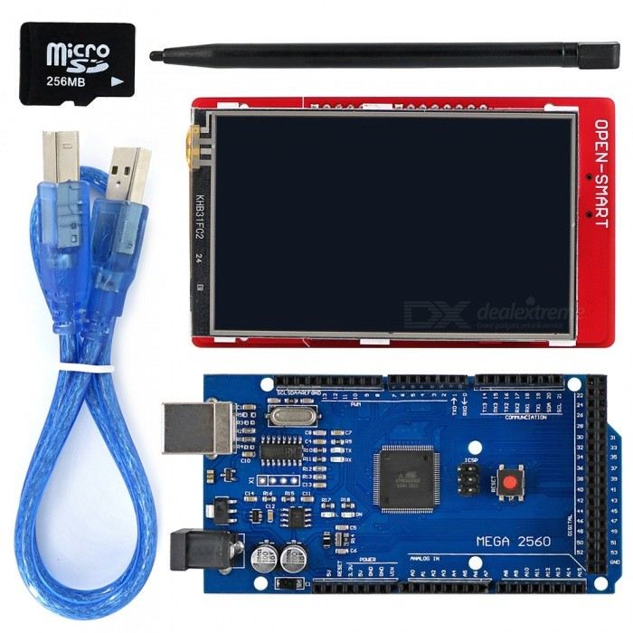 "3.2"" TFT LCD Touch Screen LCD Shield Kit w/ TF card for Arduino"