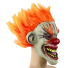 Masquerade Orange Hair Clown Mask - Orange + Grey + Multicolor