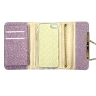 Glitter Style Long Chain Phone Wallet for iPhone 6 /6S - Purple