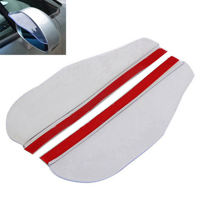 ZIQIAO Universal Rearview Mirror Rain Shade Rainproof Blades (1 Pair)Wipers<br>Form ColorTransparent + RedModelN/AQuantity1 DX.PCM.Model.AttributeModel.UnitMaterialPVCWiper Length16Wiper TypeTwo SectionsWiper StyleBonelessCompatible Car ModelUniversalPacking List2 * Car Rain Eyebrow<br>