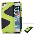 """Z"" Pattern Protective PC + TPU Back Case for IPHONE 7 - Green +Black"