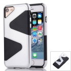 """Z"" Pattern Protective PC + TPU Back Case for IPHONE 7 - Silver +Black"