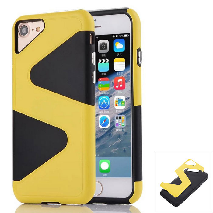 """Z"" Pattern Protective PC + TPU Back Case for IPHONE 7 - Yellow"