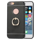 TPU Back Case w/ Holder Ring for IPHONE6 / 6S - Black