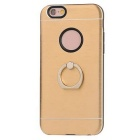 TPU Back Case w/ Holder Ring for IPHONE6 / 6S - Golden