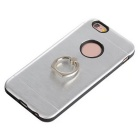 TPU Back Case w/ Holder Ring for IPHONE6 / 6S - Silver