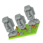 3D DIY Diamond Particles Stone Face Wooden Erector Set Toy
