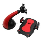 ZIQIAO 360 Suction Cup Type Mobile Phone Bracket - Black + Red