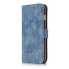 Mesh PC + PU Flip Wallet Case for iPhone 7 Plus - Blue