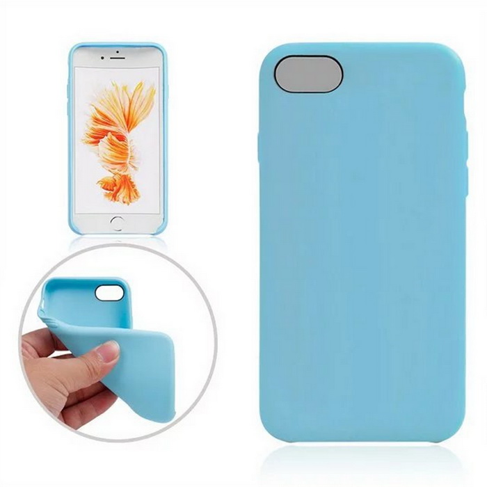 "Protective TPU Back Case Cover for Iphone 7 4.7"" - Sky Blue"