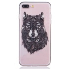 Buy Wolf Pattern TPU Protective Back Case IPHONE 7 Plus - Transparent