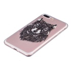 Wolf Pattern TPU Protective Back Case for IPHONE 7 Plus - Transparent