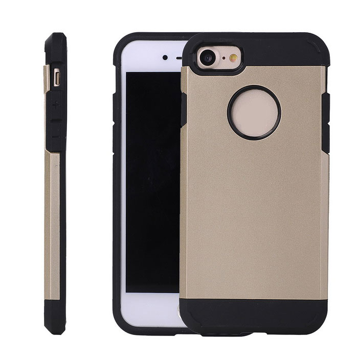 Protective Plastic Back Case for IPHONE 7 - Champagne Golden
