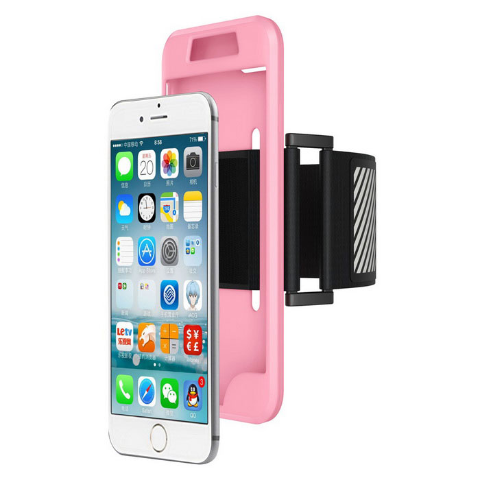 2-in-1 Sport Running Armband + Silicone Case for IPHONE 7 Plus - Pink