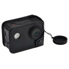 AMKOV AMK-SJ Camera Protective PU Leather Case Kit with Lanyard Lens
