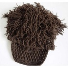 E-SMART Vogue Wig Beard Hobo Hat Sloppy Caveman Handmade Knitted Hat