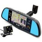"junsun 7"" toque 1080p câmara retrovisor do carro DVR w / ROM GPS 16GB"