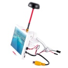 5 Inch HD Bright Snow Screen FPV Display Monitor - White