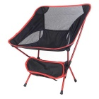 AoTu Portable Aerial Aluminum Alloy Foldable Beach Chair - Black + Red
