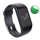 R1 Waterproof Sports Smart Bracelet w/ Heart Rate Monitor - Black