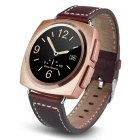Eastor A11 Round Screen Heart Rate Smart Watch - Gold (Leather Band)