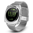 Eastor A11 Round Screen Heart Rate Smart Watch - Silver (Steel Band)