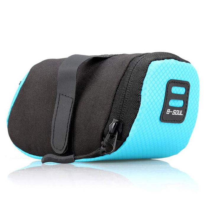 B-SOUL YA0202 Bicycle Saddle Bag Polyester Folding Bag - Blue