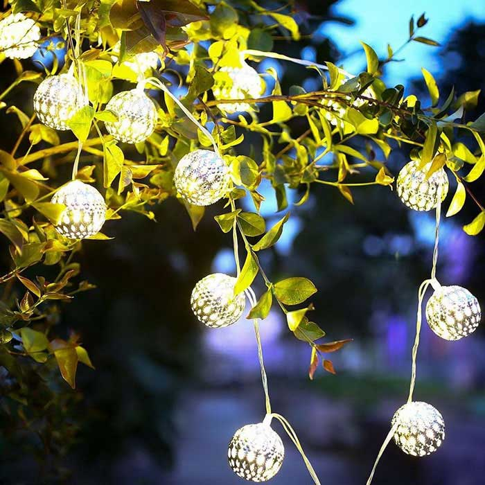 Jiawen 20-LED 5m Warm White Christmas Holiday Decoration String LightLED String<br>Form  ColorWhite + SilverColor BINWarm WhiteMaterialironQuantity1 DX.PCM.Model.AttributeModel.UnitPower3WRated VoltageOthers,110~220 DX.PCM.Model.AttributeModel.UnitChip BrandCreeEmitter TypeLEDTotal Emitters20Color Temperature3000~3200KWavelengthotherTheoretical Lumens240-300 DX.PCM.Model.AttributeModel.UnitActual Lumens240~300 DX.PCM.Model.AttributeModel.UnitPower AdapterUS PlugPacking List1 * LED Decoration String Light<br>