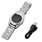 NO.1 G6 Bluetooth 4.0 Smart Watch w/ Heart Rate Monitor - Silver Steel