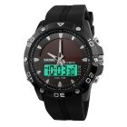 50m Water Resistance, with Backlight, Stop Watch, Alarm, Date / Day Display, Silicone Band